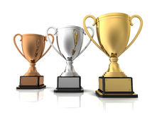 Award cups concept  3d illustration Stock Photo