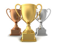 Award cups concept  3d illustration Royalty Free Stock Image