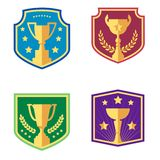 Award and cups, vector icons vector illustration