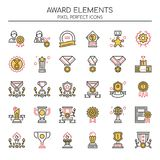 Award Elements , Thin Line and Pixel Perfect Icons Stock Photos