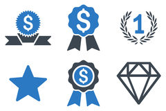 Award Flat Glyph Icons Stock Photography