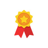 Award flat icon. Vector concept illustration for design. Stock Photography