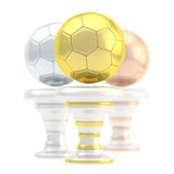Award football sport trophy cup Stock Photography