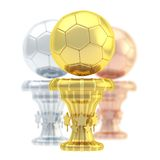Award football sport trophy cup Royalty Free Stock Images