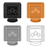 Award in the form of a video tape for best actor.Movie awards single icon in cartoon style vector symbol stock. Web illustration Royalty Free Stock Photos