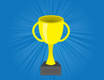 Award Gold. Gold Award with blue bursting background Stock Image