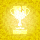 Award on gold dazzled triangle background Stock Photos