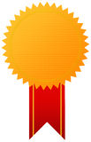 Award gold medal with ribbon stock illustration