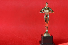 Award. Gold statue award Royalty Free Stock Images