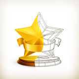 Award half stars Royalty Free Stock Photos