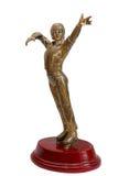 Award for ice skating winner. Figurine of sportsman for ice skating winner Stock Images