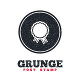Award icon. Best guarantee symbol. Grunge post stamp. Circle banner or label. Award icon. Best guarantee symbol. Winner achievement sign. Dirty textured web Stock Photography