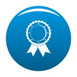 Award icon blue vector. Award icon vector blue circle isolated on white background Royalty Free Stock Photo