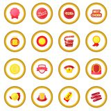 Award icon circle. Cartoon isolated vector illustration Royalty Free Stock Image