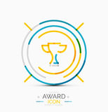 Award icon, logo Royalty Free Stock Images