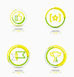 Award icon set, Logo collection Royalty Free Stock Photography