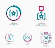 Award icon set, Logo collection Royalty Free Stock Photos