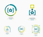 Award icon set, Logo collection Stock Photo