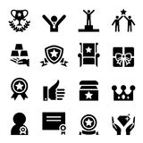 Award icon set Royalty Free Stock Images