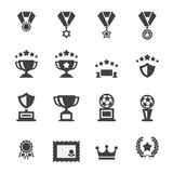 Award icon set Stock Photos