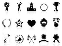 Award icons set vector illustration