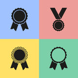 Award icons. Set of black award icons. Vector illustration Vector Illustration