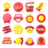 Award icons set, cartoon style. Award icons set in cartoon style on a white background Royalty Free Stock Photos