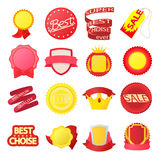 Award icons set, cartoon style. Award icons set in cartoon style on a white background Stock Photo