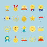 Award icons set. Stock Photography