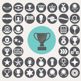 Award icons set. Royalty Free Stock Photos