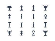 Award icons. Set of award icons isolated on white Royalty Free Stock Photography