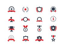 Award icons set Stock Photos