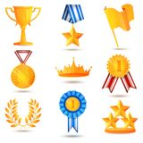 Award icons set Stock Photo