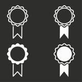 Award icons set. Award vector icons set. White illustration isolated for graphic and web design Stock Image