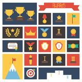 Award icons. Vector colorful set of prizes and Stock Photography