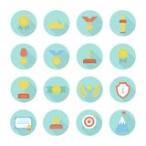 Award icons. Vector colorful set of prizes and Stock Images