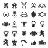 Award icons on white background Stock Photo