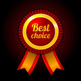 Award label Best choice with ribbons Vector Royalty Free Stock Image