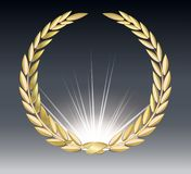 Award laurel isolated on a transparent background. Winner template. Symbol of victory and achievement. Gold laurel stock illustration