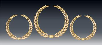 Award laurel isolated on a transparent background. Winner template. Symbol of victory and achievement. Gold laurel royalty free illustration
