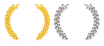 Award leaf symbol Royalty Free Stock Photography