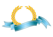 Award leaf symbol Stock Image