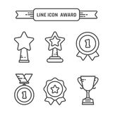 Award linear icons set. Vector winner sign Royalty Free Stock Image