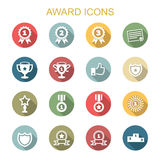 Award long shadow icons Royalty Free Stock Photos