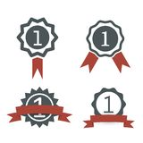 Award medal icons Stock Images