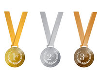 Award medals. illustration design Royalty Free Stock Image