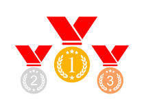Award medals set Royalty Free Stock Photos