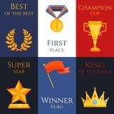 Award mini poster set Royalty Free Stock Photo
