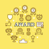Award minimal outline icons Royalty Free Stock Image