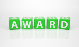 Award out of green Letter Dices. The Word Award out of green Letter Dices Royalty Free Stock Image